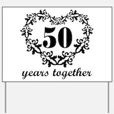 50th Anniversary Heart Yard Sign