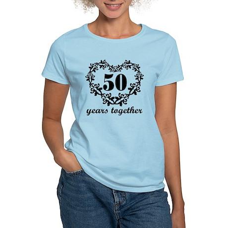 50th Anniversary Heart Women's Light T-Shirt
