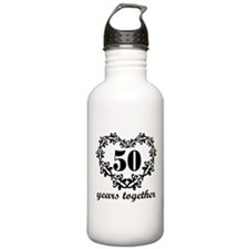 50th Anniversary Heart Water Bottle