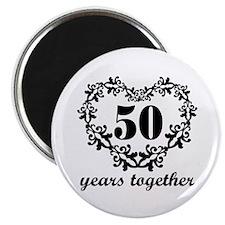 50th Anniversary Heart Magnet