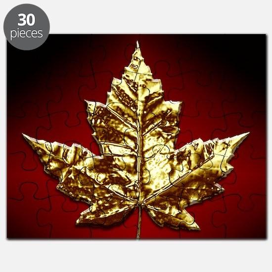 Gold Canada Souvenir Puzzle