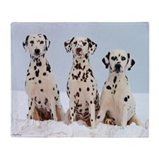 Dalmatian Family Throw Blanket