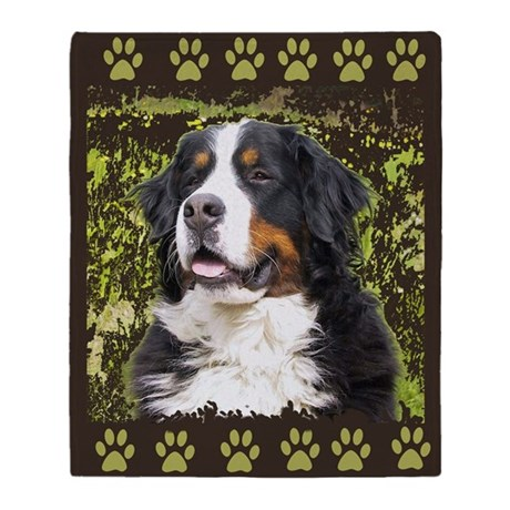Bernese Mountain dog Home Dec Throw Blanket