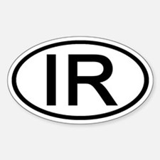 IR - Initial Oval Oval Decal