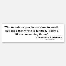 Roosevelt: The American people Bumper Bumper Bumper Sticker