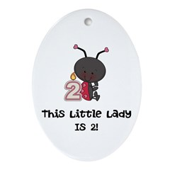 Little Lady 2 Ornament (Oval)