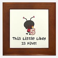 Little Lady 5 Framed Tile
