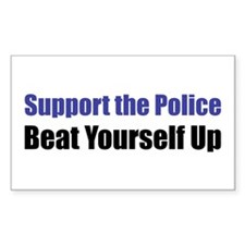 Support the Police Rectangle Decal