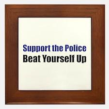 Support the Police Framed Tile