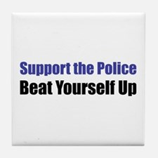 Support the Police Tile Coaster