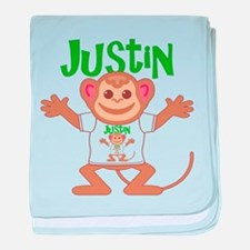 Little Monkey Justin baby blanket