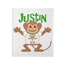 Little Monkey Justin Throw Blanket