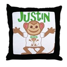 Little Monkey Justin Throw Pillow