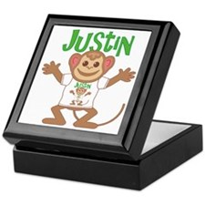 Little Monkey Justin Keepsake Box