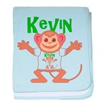 Little Monkey Kevin baby blanket