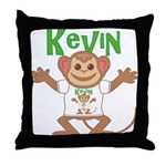 Little Monkey Kevin Throw Pillow