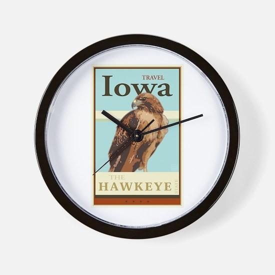 Travel Iowa Wall Clock