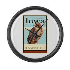 Travel Iowa Large Wall Clock