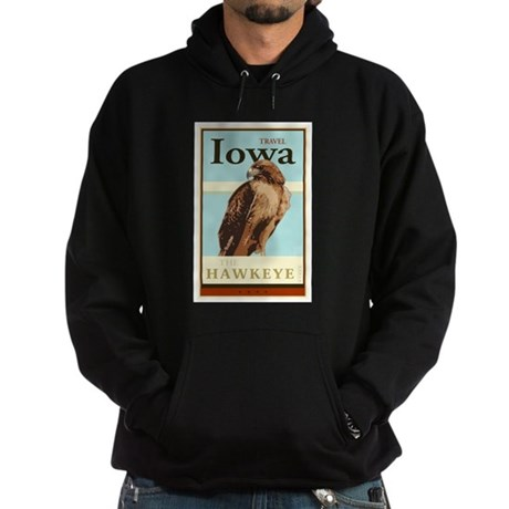 Travel Iowa Hoodie (dark)