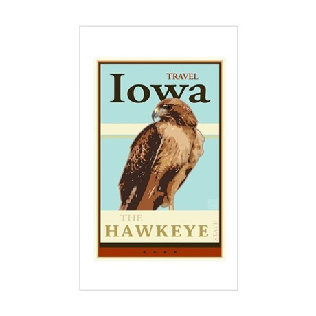 Travel Iowa Sticker (Rectangle)