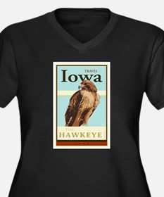 Travel Iowa Women's Plus Size V-Neck Dark T-Shirt