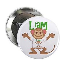 """Little Monkey Liam 2.25"""" Button"""