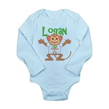 Little Monkey Logan Long Sleeve Infant Bodysuit