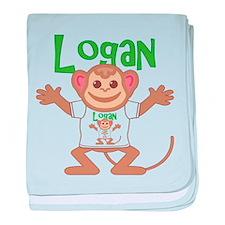 Little Monkey Logan baby blanket