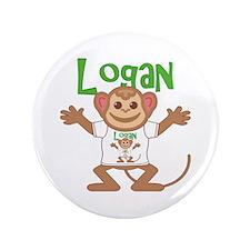 "Little Monkey Logan 3.5"" Button"