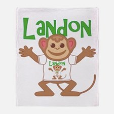 Little Monkey Landon Throw Blanket