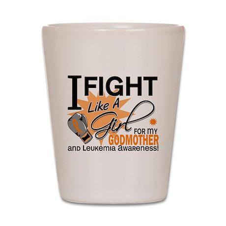 Fight Like a Girl Leukemia Shot Glass