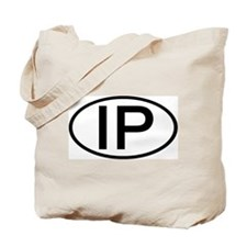 IP - Initial Oval Tote Bag