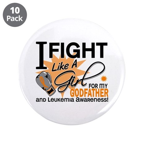 """Fight Like a Girl Leukemia 3.5"""" Button (10 pack)"""