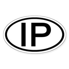 IP - Initial Oval Oval Decal