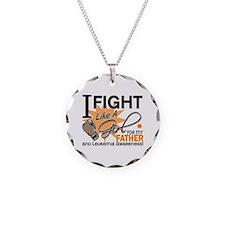 Fight Like a Girl Leukemia Necklace