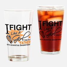 Fight Like a Girl Leukemia Drinking Glass