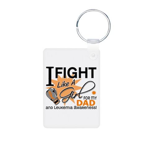 Fight Like a Girl Leukemia Aluminum Photo Keychain