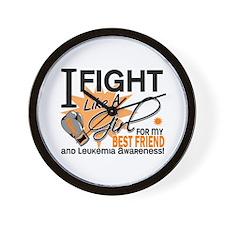 Fight Like a Girl Leukemia Wall Clock
