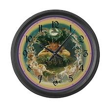 Faun and Fairy Large Wall Clock