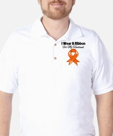 Orange Ribbon - Husband T-Shirt