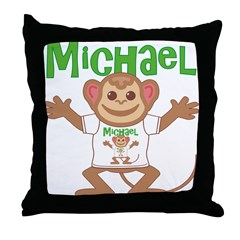 Little Monkey Michael Throw Pillow