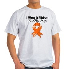 Orange Ribbon - Wife T-Shirt