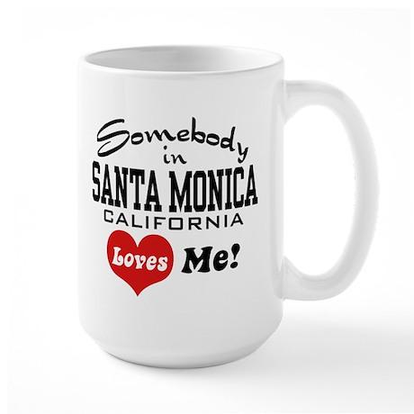 Somebody In Santa Monica Loves Me Large Mug