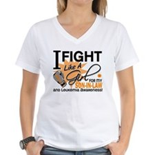 Fight Like a Girl Leukemia Shirt