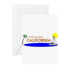 Cool Diving santa Greeting Cards (Pk of 10)