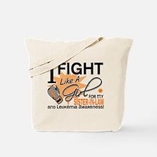 Fight Like a Girl Leukemia Tote Bag