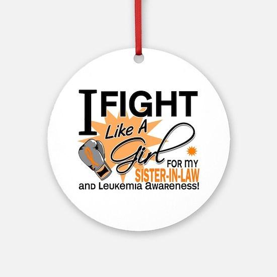 Fight Like a Girl Leukemia Ornament (Round)