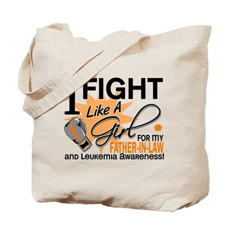Fight Like a Girl Leukemia Tote Bag