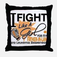 Fight Like a Girl Leukemia Throw Pillow