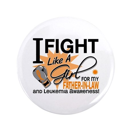 """Fight Like a Girl Leukemia 3.5"""" Button (100 pack)"""